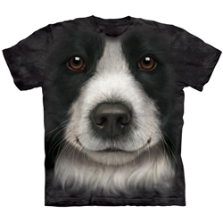 Border Collie Face Adult T-Shirt