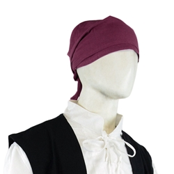 Canvas Pirate Bandanna - Burgundy