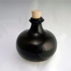 17th Century Small Onion Bottle - Hand Blown Glass