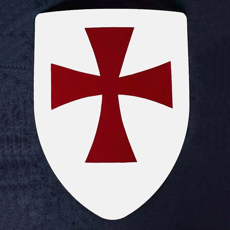 The Larp Store Knights Templar Steel Heater Shield 288 002